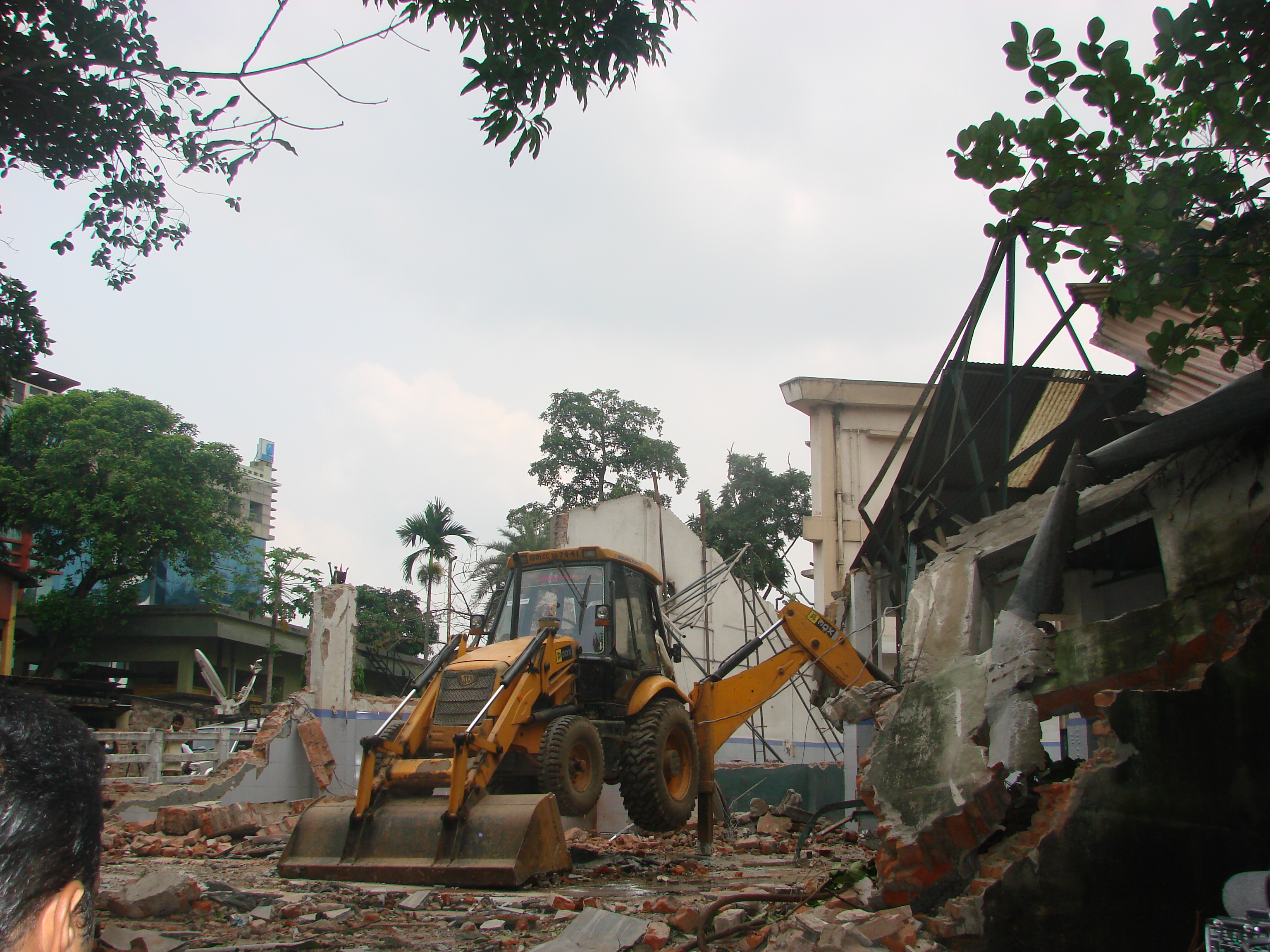Action against Illegal Encroachment in Guwahati